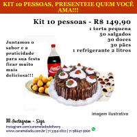 PROMOÇÃO BLACK FRIDAY - KIT FESTA 10 PESSOAS, PRESENTEIE QUEM VOCÊ AMA